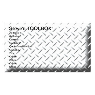 Steve s TOOLBOX Business Card Template