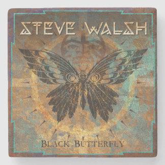 Steve Walsh Black Butterfly Coaster