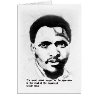 Steven Biko freedom fighter Card