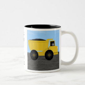 Steven Dump Truck Personalized Name Mug