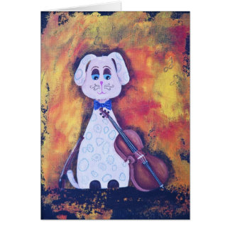 Steven, the Spotted Cellist Card