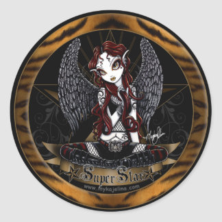 Stevie Super Star Angel Animal Print Sticker