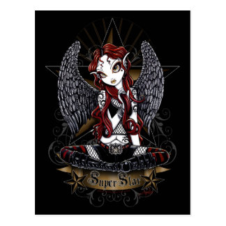 Stevie Tattooed Rock Star Angel Postcard