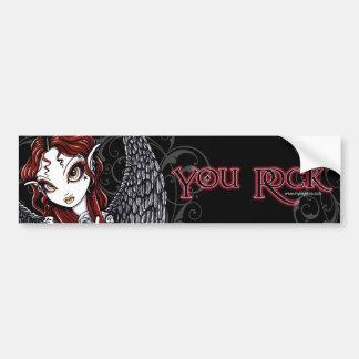 """Stevie Valentine's Day """"You Rock"""" Bumper Sticker Car Bumper Sticker"""