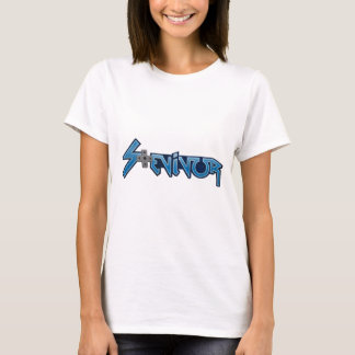 Stevivor.com women's logo-only white shirt