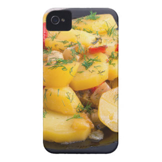 Stew of potatoes with onion, bell pepper and dill iPhone 4 Case-Mate cases