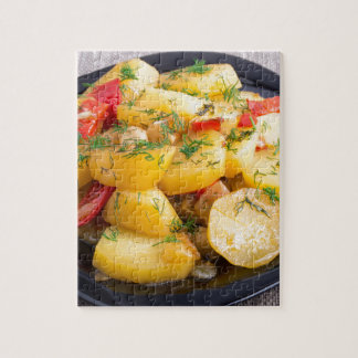 Stew of potatoes with onion, bell pepper and dill jigsaw puzzle