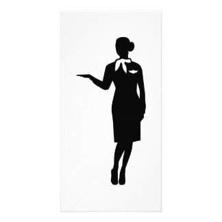 Stewardess airline photo card template