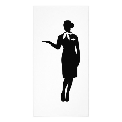 Stewardess airline photo card template