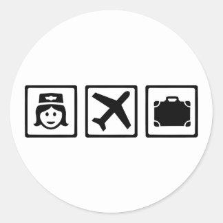 Stewardess Classic Round Sticker