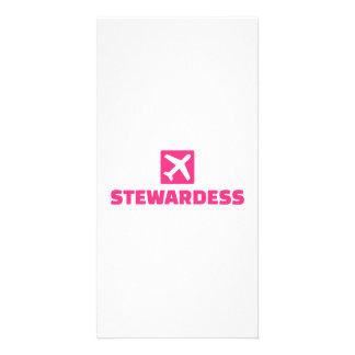 Stewardess Customized Photo Card