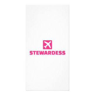 Stewardess Customized Photo Card