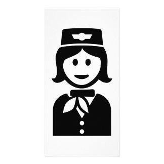 Stewardess Personalized Photo Card
