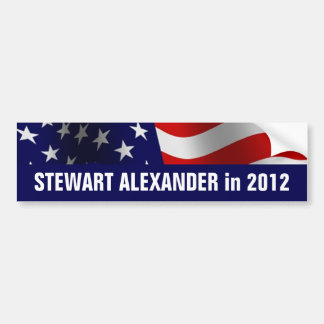 Stewart Alexander in 2012 Bumper Sticker