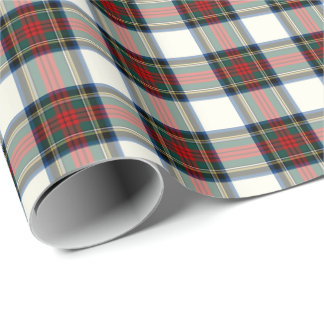 Stewart Clan Formal Dress Tartan Wrapping Paper