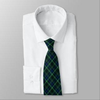 Stewart Clan Hunting Tartan Green and Blue Plaid Tie