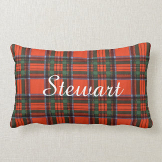 Stewart clan Plaid Scottish tartan Lumbar Cushion