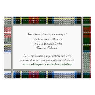 Stewart Dress Plaid Wedding Enclosure Card Large Business Cards (Pack Of 100)