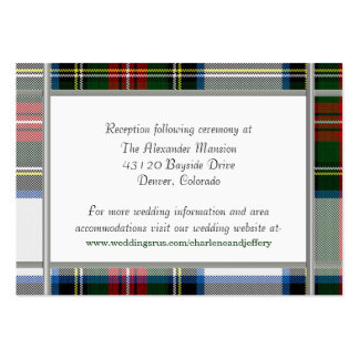 Stewart Dress Plaid Wedding Enclosure Card Pack Of Chubby Business Cards