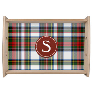 Stewart Dress Tartan Plaid Monogram Serving Tray