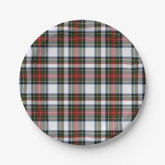 Stewart Dress Tartan Plaid Paper Plate