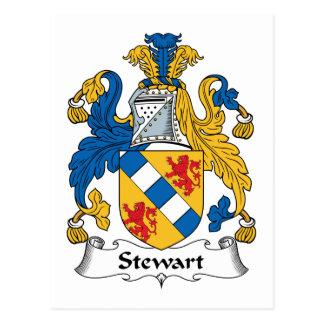 Stewart Family Crest Postcard