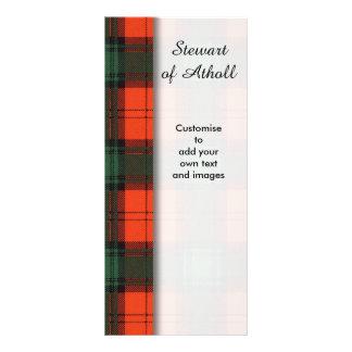 Stewart of Atholl clan Plaid Scottish tartan 10 Cm X 23 Cm Rack Card
