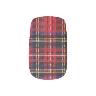 Stewart Red Tartan Pattern Nail Wrap
