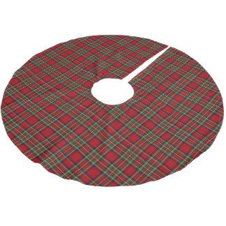 Stewart Royal Tartan Large Plaid Scottish Clan Brushed Polyester Tree Skirt