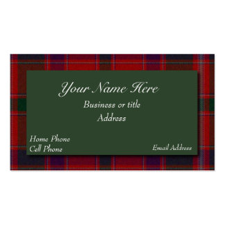 Stewart Scottish Tartan Plaid Business Card