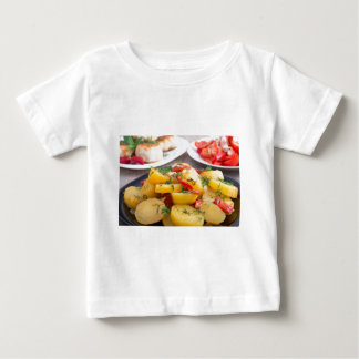 Stewed potatoes with bell pepper closeup baby T-Shirt