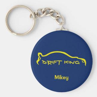 STI Drift King Basic Round Button Key Ring