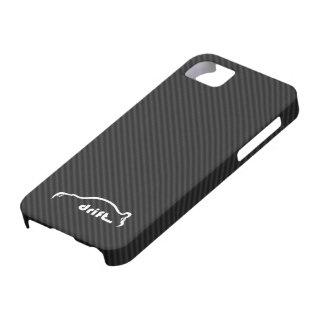 STI Impreza Drift  w/Faux Carbon FIber Background Case For The iPhone 5