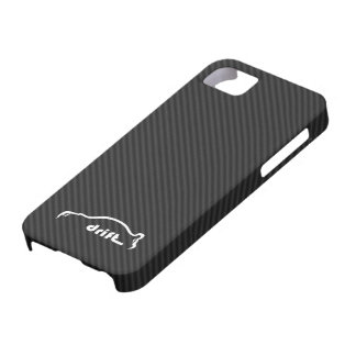 STI Impreza Drift  w/Faux Carbon FIber Background iPhone 5 Cover