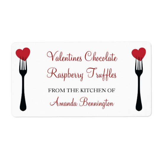 Stick a Fork in my Heart Valentines Baking Label Shipping Label