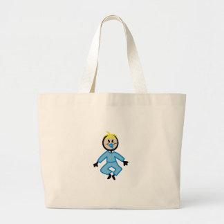 Stick Baby Boy Jumbo Tote Bag