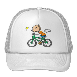Stick Boy Riding Bicycle Trucker Hat