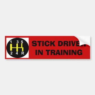 Stick Driver in Training Bumper Sticker