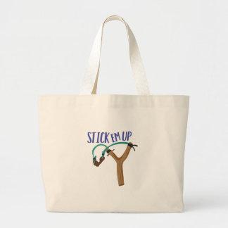 Stick Em Up Large Tote Bag