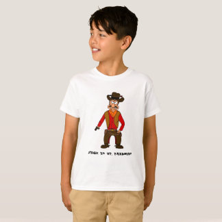 Stick 'em up, pardner cowboy t-shirt