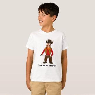 Stick 'em up, pardner cowboy t-shirt