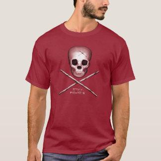 Stick Fighter Maroon T-Shirt