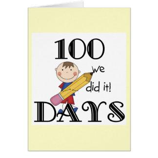 Stick Figure 100 Days Card