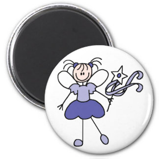 Stick Figure Angel Purple Magnet