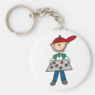 Stick Figure Baking Cookies Tshirts and Gifts Key Ring