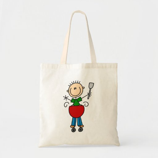 Stick Figure Barbequeing T-shirts and gifts Bag