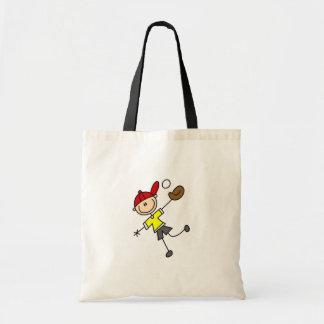 Stick Figure Baseball Player Bag