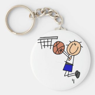 Stick Figure Basketball Sink T-shirs and Gifts Basic Round Button Key Ring