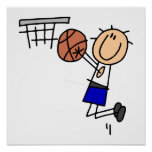 Stick Figure Basketball Sink T-shirs and Gifts Poster