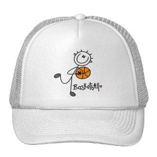 Stick Figure Basketball T-shirts and Gifts Mesh Hats